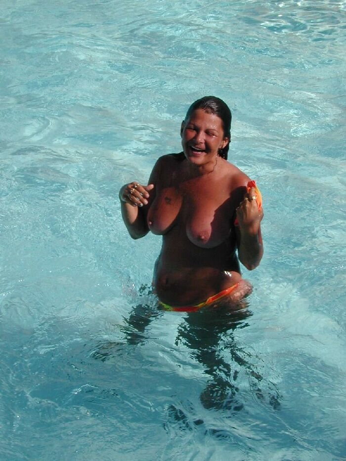 Woman Skinny Dipping